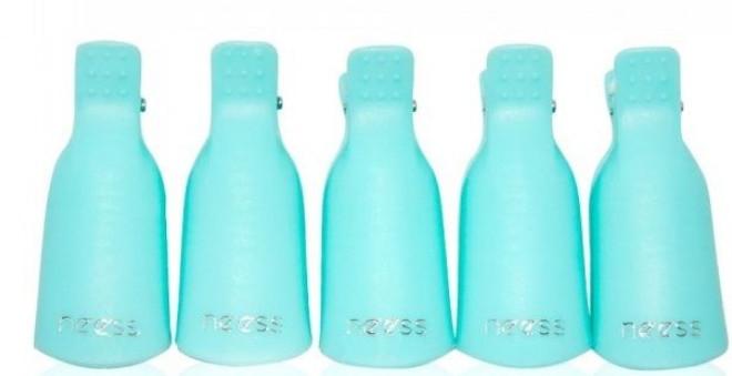 Klipy na odstraňení gel laku, modré - Neess