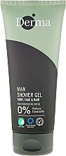 Parfémy, Parfumerie, kosmetika Sprchový gel a šampon - Derma Man Body Face & Hair Shower Gel