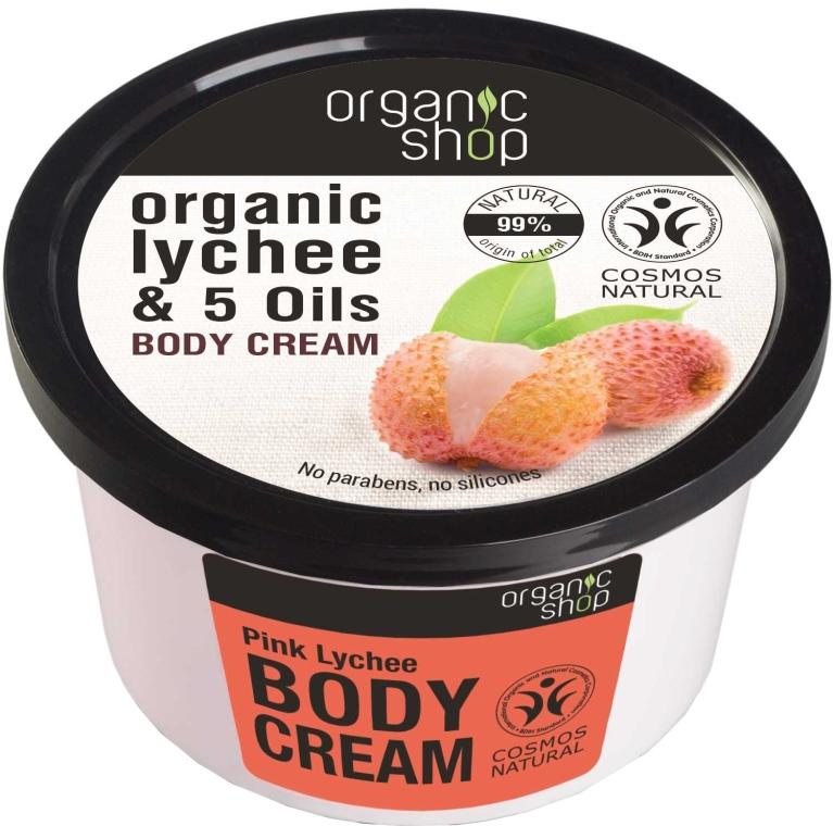 "Tělový krém ""Růžové liči"" - Organic Shop Body Cream Organic Lichee & Oils"