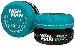 Parfémy, Parfumerie, kosmetika Matný vosk na úpravu vlasů - Nishman Matte Finish Super High Hold Wax M4