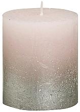 Parfémy, Parfumerie, kosmetika Válcová svíčka, růžová, 80x68 mm - Bolsius Metallic Candle