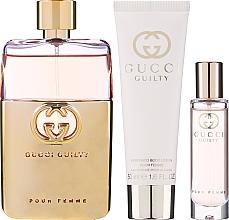 Parfémy, Parfumerie, kosmetika Gucci Guilty Pour Femme - Sada (edp/90ml + b/lot/50ml + edp/mini/15ml)