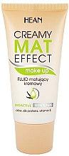 Parfémy, Parfumerie, kosmetika Matující tonální fluid - Hean Creamy Mat Effect