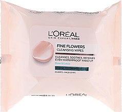 Parfémy, Parfumerie, kosmetika Odličovací ubrousky - L'Oreal Paris Skin Expert Fine Flowers Normal Combination Cleansing Wipes
