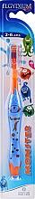 Parfémy, Parfumerie, kosmetika Zubní kartáč dětský 2-6, oranžový - Elgydium Kids Monster Toothbrush