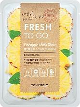 Parfémy, Parfumerie, kosmetika Osvěžující plátýnková maska s ananasem - Tony Moly Fresh To Go Mask Sheet Pineapple