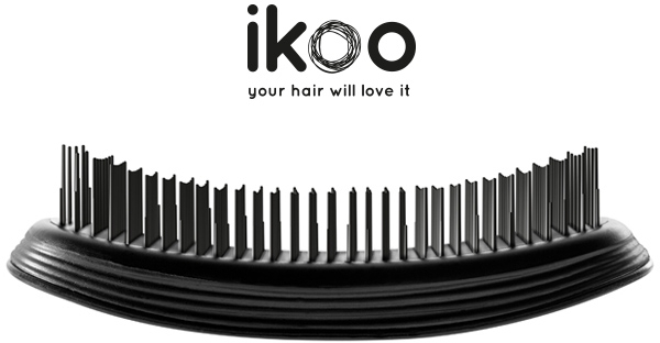 Kartáč na vlasy - Ikoo Home Black Brush — foto N2