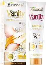 """Parfémy, Parfumerie, kosmetika Krémový deodorant 2v1 """"Zlatý prach"""" - Bielenda Vanity Soft Touch Depilatory Cream"""