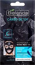 Parfémy, Parfumerie, kosmetika Čisticí maska s aktivním uhlím pro suchou až citlivou pleť - Bielenda Carbo Detox Cleansing Mask Dry and Sensitive Skin