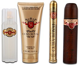 Parfémy, Parfumerie, kosmetika Cuba Royal - Sada (edt/100ml + ash 100ml + sh/gel/200ml + edt/15ml)