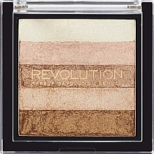 Rozjasňovač na obličej - Makeup Revolution Shimmer Brick — foto N1