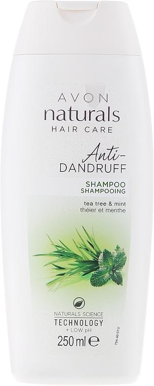 Šampon proti lupům Máta a čajovník - Avon Naturals Herbal Hair Care Shampoo — foto N3