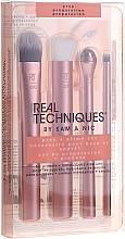 Parfémy, Parfumerie, kosmetika Sada štětců 3ks + váleček na oblast kolem očí, růžové zlato - Real Techniques by Sam and Nic Prep + Prime Set