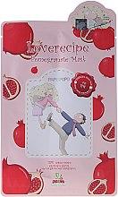 Parfémy, Parfumerie, kosmetika Bavlněná pleťová maska s extraktem z granátového jablka - Sally's Box Loverecipe Pomegranate Mask