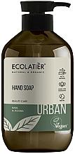 Parfémy, Parfumerie, kosmetika Tektuté mýdlo na ruce Bazalka a jojoba - Ecolatier Urban Liquid Soap
