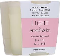 Parfémy, Parfumerie, kosmetika Aromatická svíčka Bazalka a limetka - AromaWorks Light Range Basil & Lime Candle