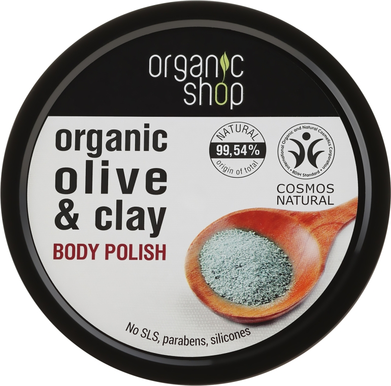 "Peeling na tělo ""Modrá hlína"" - Organic Shop Body Scrub Organic Olive & Clay"