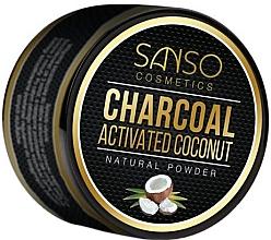 Parfémy, Parfumerie, kosmetika Přírodní bělicí zubní prášek - Sanso Cosmetics Charcoal Activated Coconut Natural Powder