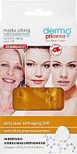 Parfémy, Parfumerie, kosmetika Maska na obličej hydro-kolagenová - Dermo Pharma Gold Anti-Aging Laser 24K