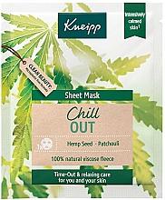 Parfémy, Parfumerie, kosmetika Zklidňující látková maska - Kneipp Chill Out Sheet Mask