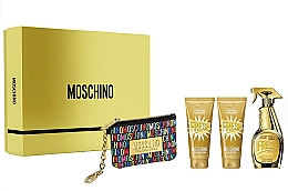 Parfémy, Parfumerie, kosmetika Moschino Gold Fresh Couture - Sada (edp/100ml + b/lot/100ml + s/gel/100 ml + bag)