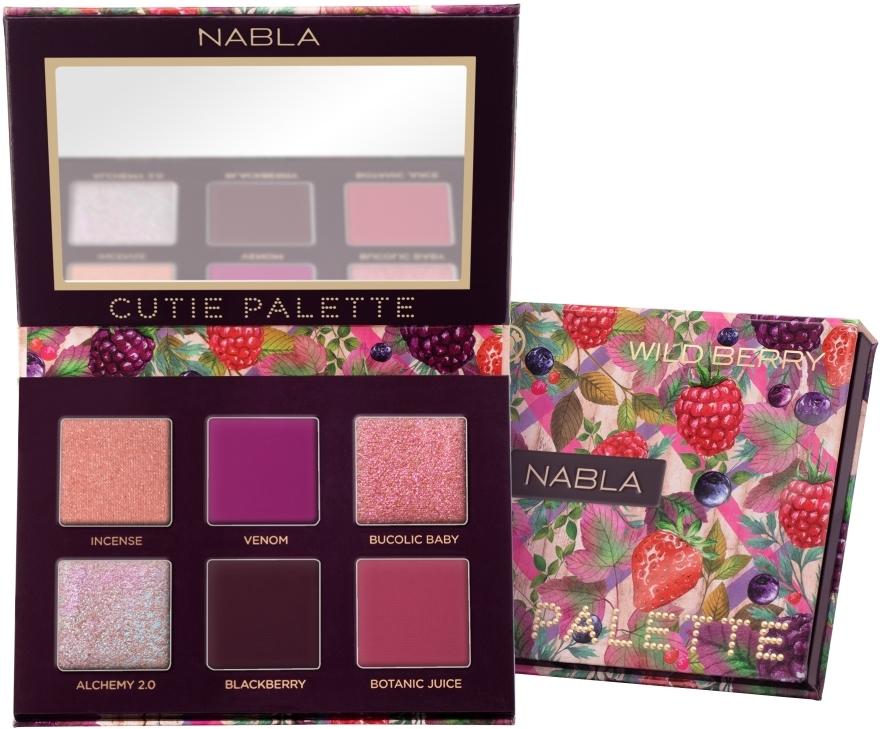 Paleta očních stínů - Nabla Cutie Collection Palette Wild Berry