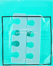 Parfémy, Parfumerie, kosmetika Separátory pro pedikúru, mátové barvy - Oriflame Pedicure Toe Separators