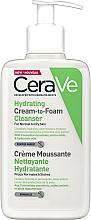 Parfémy, Parfumerie, kosmetika Hydratační čisticí krémová pěna na obličej - CeraVe Hydrating Cream To Foam Cleanser For Normal To Dry Skin