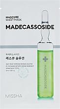 Parfémy, Parfumerie, kosmetika Pleťová maska s obsahem Madecassoside - Missha Mascure Rescue Solution Sheet Mask Madecassoside