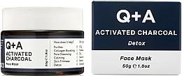 Parfémy, Parfumerie, kosmetika Pleťová maska Detox - Q+A Activated Charcoal Face Mask