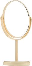 Parfémy, Parfumerie, kosmetika Zrcadlo na stojanu oválné 85710, žluté - Top Choice Beauty Collection Mirror