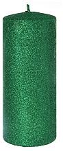 Parfémy, Parfumerie, kosmetika Dekorativní svíčka, zelená, 7x18 cm - Artman Glamour