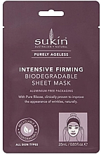 Parfémy, Parfumerie, kosmetika Látková maska na obličej - Sukin Purely Ageless Intensive Firming Biodegradable Sheet Mask