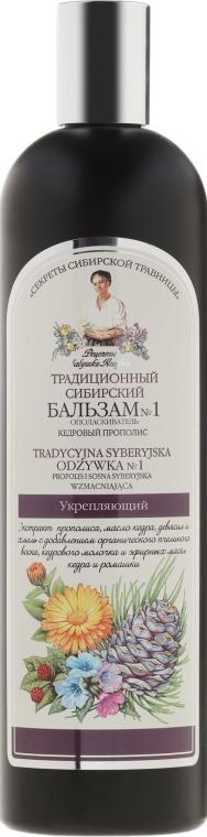 Tradiční Sibiřký Balzám na vlasy na Cedrovém Propolisu – Posilující - Recepty babičky Agafyy