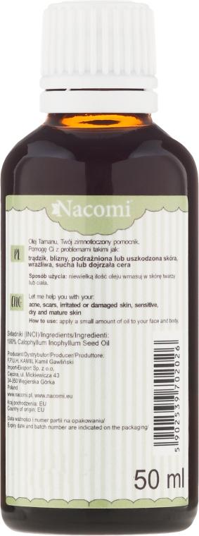 Přírodní olej Tamanu pro obličej a tělo - Nacomi Olej Tamanu Redukcja Blizn — foto N4