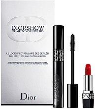 Parfémy, Parfumerie, kosmetika Sada - Dior Diorshow Pump 'N' Volume Mascara & Lipstick Set (mascara/6ml+lipstick/1.5g)