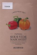 Parfémy, Parfumerie, kosmetika Plátýnková maska s paprikou - Skinfood Paprika Sous Vide Mask Sheet