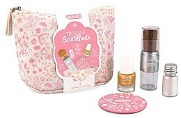 Parfémy, Parfumerie, kosmetika Sada - Namaki Glitter Kit (polish/7.5ml+nail/powder/7g+brush+mirror+acc)