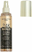 Parfémy, Parfumerie, kosmetika Fixátor make-upu - Revolution Pro 24K Gold Fixing Spray