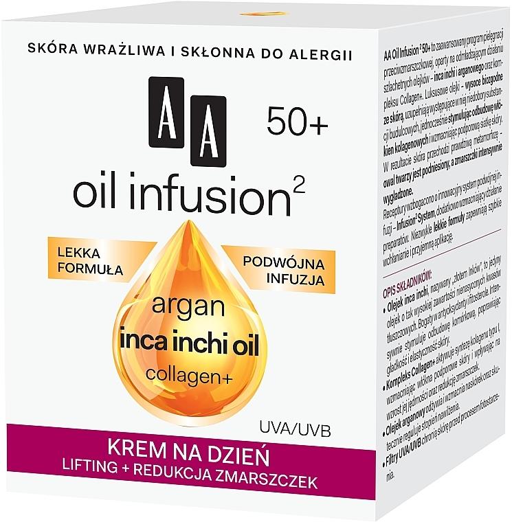 Denní krém-lifting proti vráskám - AA Oil Infusion Day Lifting Cream For Wrinkles 50+ — foto N2