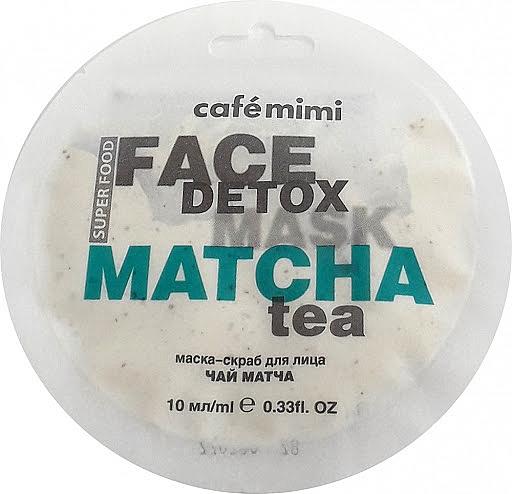 Maska-scrub na obličej Matcha a Aloe Vera - Cafe Mimi Face Mask