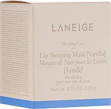 """Parfémy, Parfumerie, kosmetika Intenzivně obnovující noční masku na rty """"Vanilka"""" - Laneige Sleeping Care Lip Sleeping Mask Vanilla"""