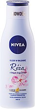 Parfémy, Parfumerie, kosmetika Tělový balzám s růží a arganovým olejem - Nivea Balm With Rose & Argan Oil