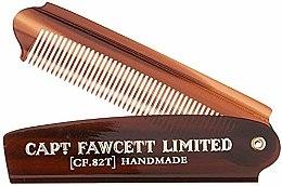 Parfémy, Parfumerie, kosmetika Skládací hředen na vousy, CF82T - Captain Fawcett Folding Pocket Beard Comb