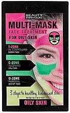 Parfémy, Parfumerie, kosmetika Maska na obličej pro mastnou pleť - Beauty Formulas 3-Step Multi Mask Face Treatment Oily Skin