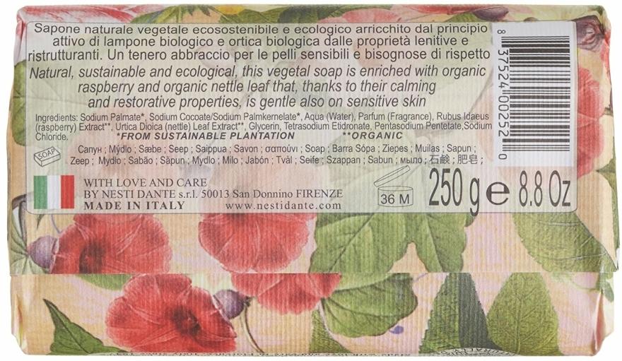 "Mýdlo ""Malina a kopřiva"" - Nesti Dante Bio Natura Bush Raspberry & Nettle Soap — foto N2"