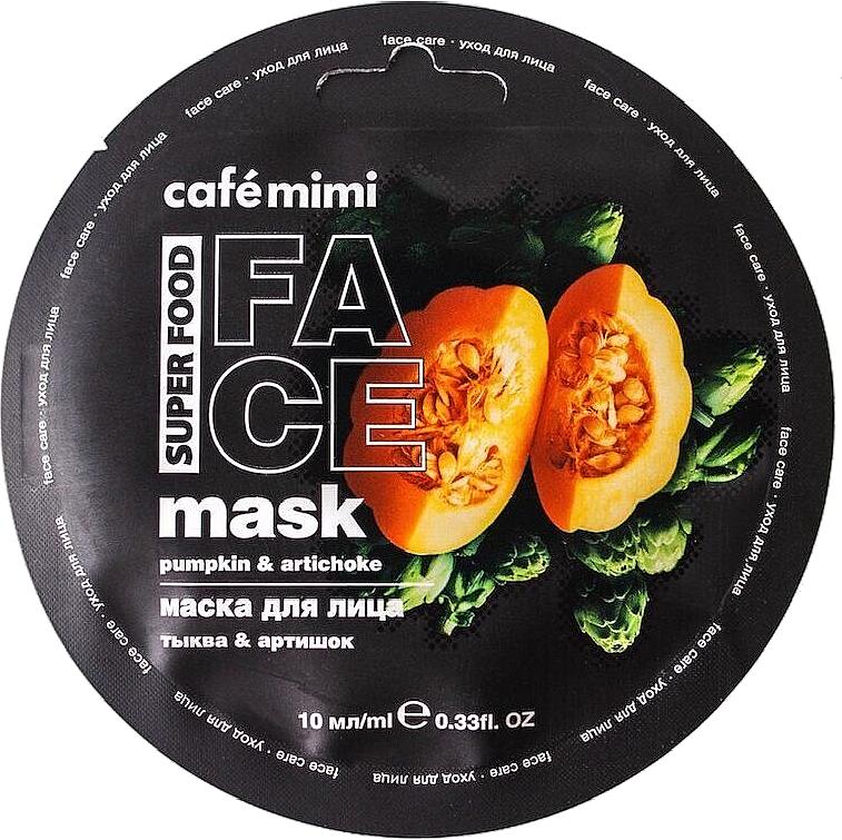 Pleťová maska Tykev a artičoka - Cafe Mimi Face Mask