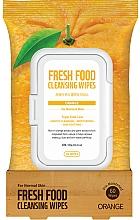 Parfémy, Parfumerie, kosmetika Čisticí pleťové ubrousky Pomeranč - Superfood For Skin Fresh Food Facial Cleansing Wipes