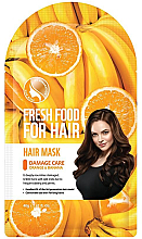 Parfémy, Parfumerie, kosmetika Maska Banán a pomeranč pro poškozené vlasy - Superfood For Skin Fresh Food For Hair