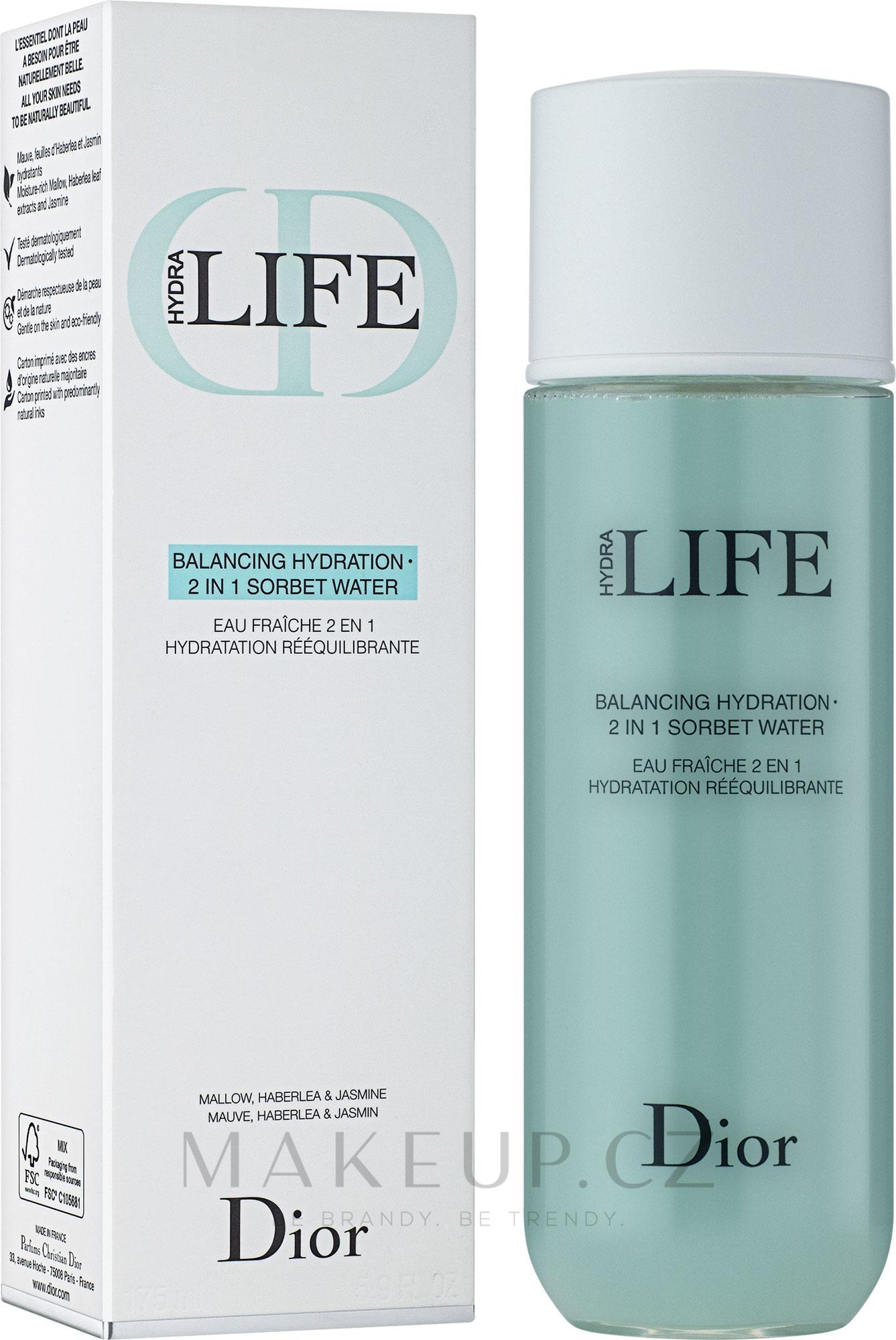 Hydratační sorbetový krém 2-v-1 - Dior Hydra Life Balancing Hydration 2-in-1 Sorbet Water — foto 175 ml